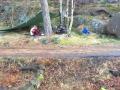 Rigger seg til på buøya